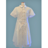 Dress WD1 lace up France Cotton Dress